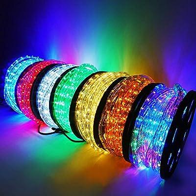 Onebigoutlet© 50, 100, 150, 300 FT Feet LED Rope Light Flexible Color Kit Decorative Lighting Outdoor Christmas