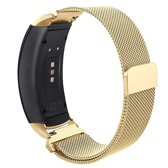 Compatible Gear Fit2 Pro/ Fit2 Band, OenFoto Metal Milanese Loop Stainless Steel Replacement Accessories Strap Magnet Lock Samsung Gear Fit 2 Pro ...