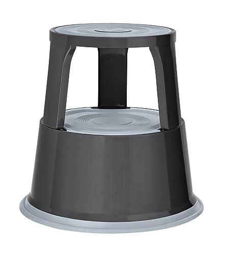 Pavo Premium Rolling Kick Step Stool Grey Amazon Co Uk