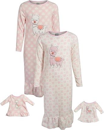 Jxstar Matching Doll /& Girls Nightgowns Unicorn Pajamas Princess Night Shirts
