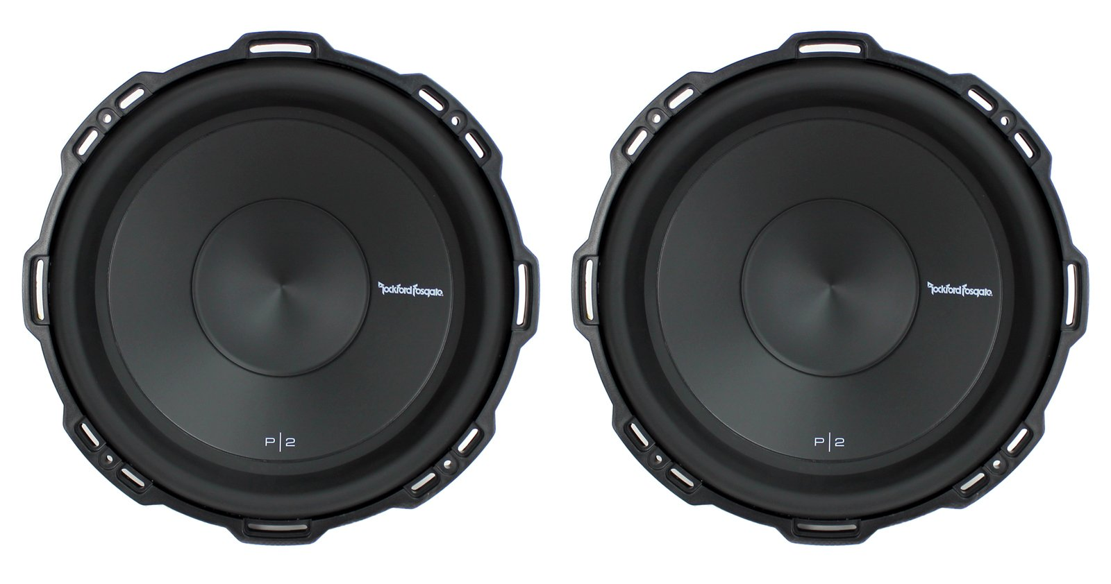 2) Rockford Fosgate P2D2-12 12'' 1600Watt 2-Ohm Punch Series Car Audio Subwoofers by Rockford Fosgate (Image #1)