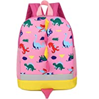 7Trees Cartoon Backpack Cute Child Dinosaur Backpack with Safety Leash School Bag