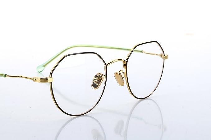 8bde96923d21 KHOTY 2018 New Fashion Eyeglasses Frame Memory Metal Women s Men s Optical  Vintage Retro Aviator Eyewear Glasses Frame Transparent Lens  Non-prescription ...