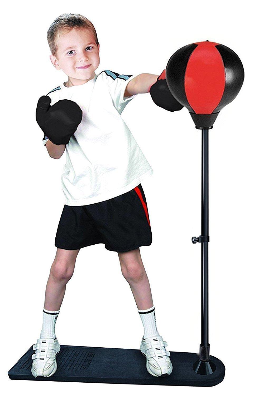 Pelota de Boxeo WoBoSen Bola de Perforación con Soporte y Guantes Altura