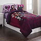 Disney Descendants 4 Piece Bedding Set Comforter and Sheets, Group Cast Image, Twin Size