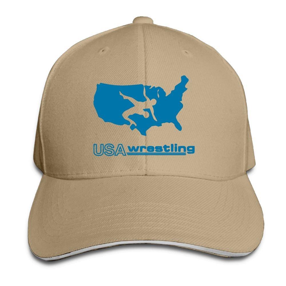 BXGGCAP USA Wrestling Men Women Soft Adjustable Size Dad Hat Baseball Cap Hat for Men and Women by BXGGCAP