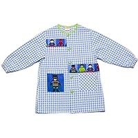 Dyneke Bata escolar botón azul Super Heroes (personalización