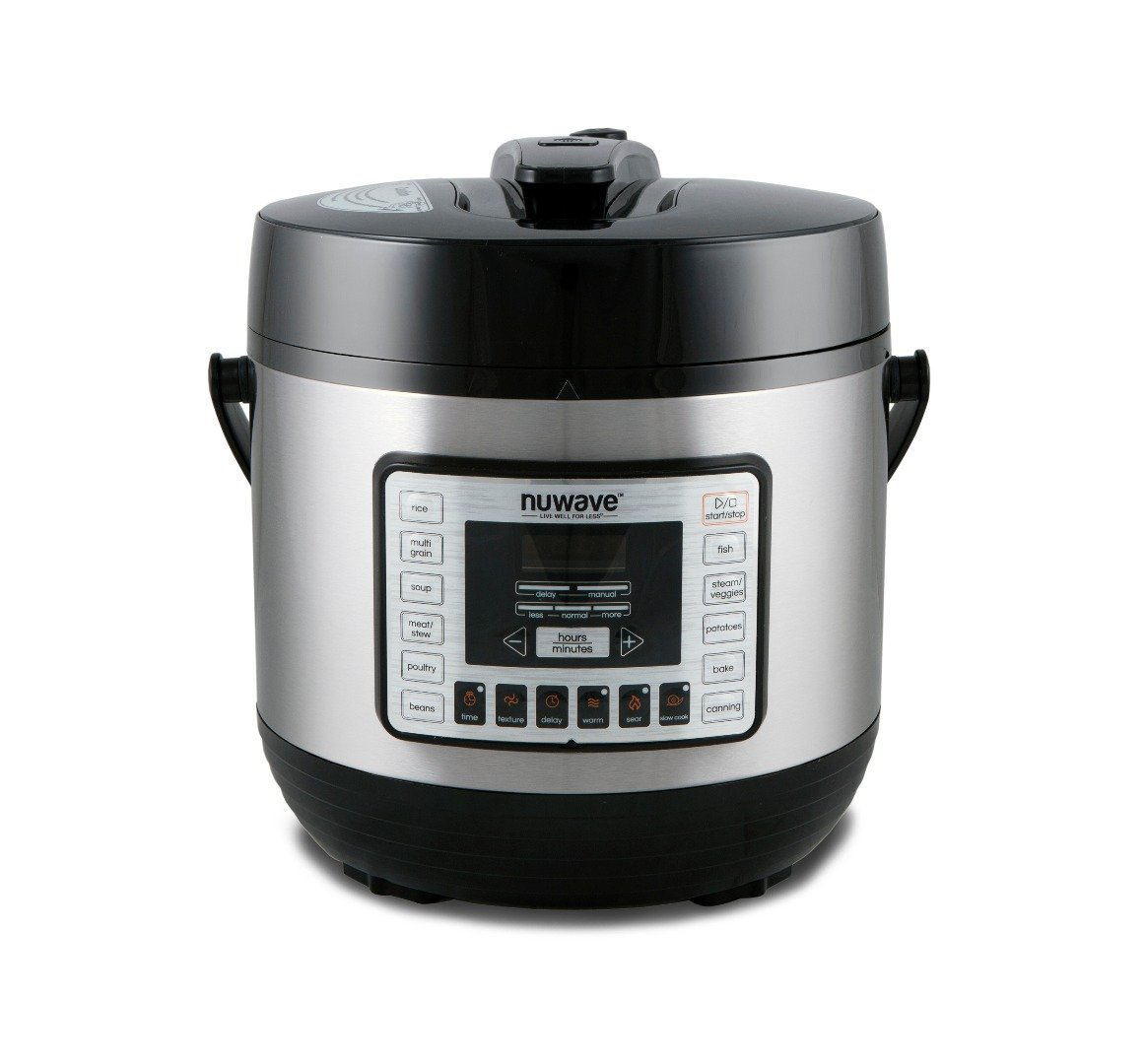 Nu Wave 33101 Nutri-Pot Pressure Cooker, 6 quart, Black
