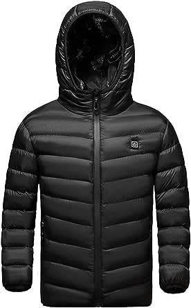 HWZZ Chaleco de calefacción infantil recargable por USB, chaqueta cálida de invierno adecuada para acampar al aire libre equipo de esquí