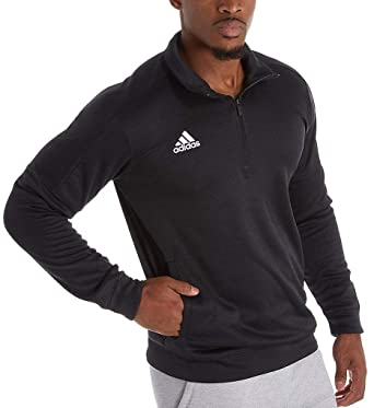 san francisco d0d3d a860e adidas Team Issue Climawarm Fleece 1 4 Zip (111F) S Black Melange