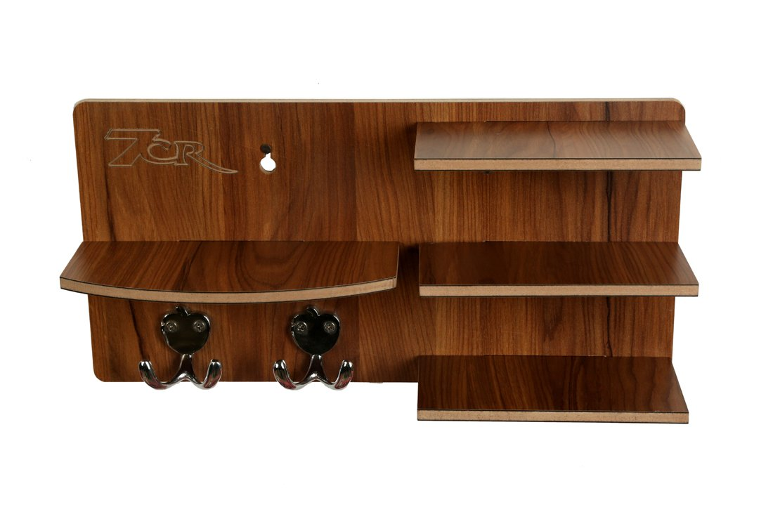 7cr Wooden Shelf - (14x7 inches, Brown)