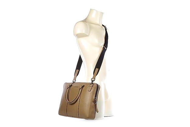 a03696841d66 Amazon.com  Burberry briefcase attaché case laptop pc bag leather london  newburg camel brown  Shoes