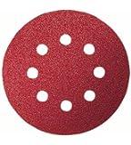 Bosch 2609256A27 Feuilles abrasives pour Ponceuses excentriques Diamètre 125 mm 8 trous Grain 240 Lot de 5 feuilles