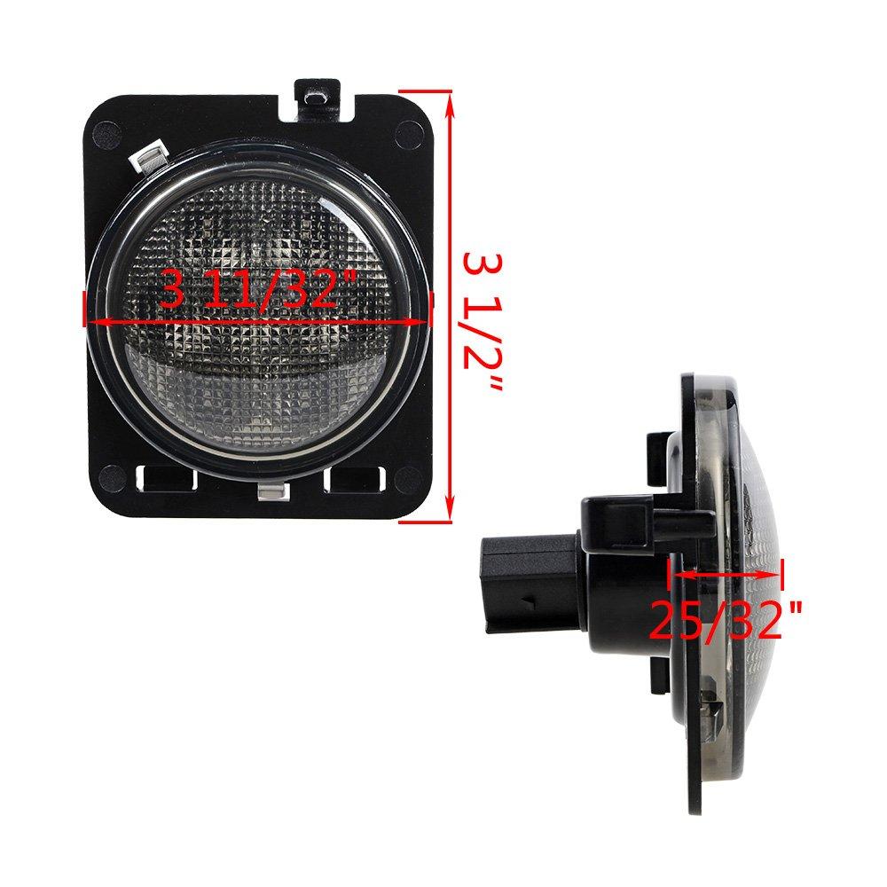 Led Turn Signal Fender Side Marker Light Smoke Lens For