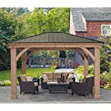 Cheap 12′ x 14′ Cedar Gazebo With Aluminum Roof