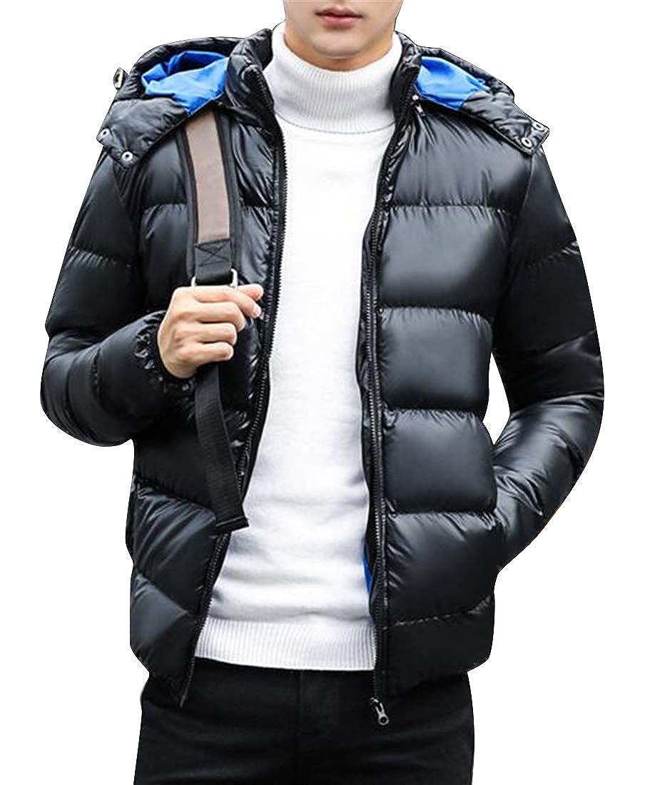 XTX Men Warm Hooded Winter Lightweight Camo Down Quilted Jacket Coat Outwear