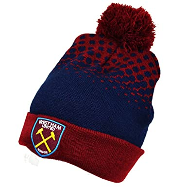6d952a9ec7d West Ham Fade Design Bobble Hat  Amazon.co.uk  Clothing