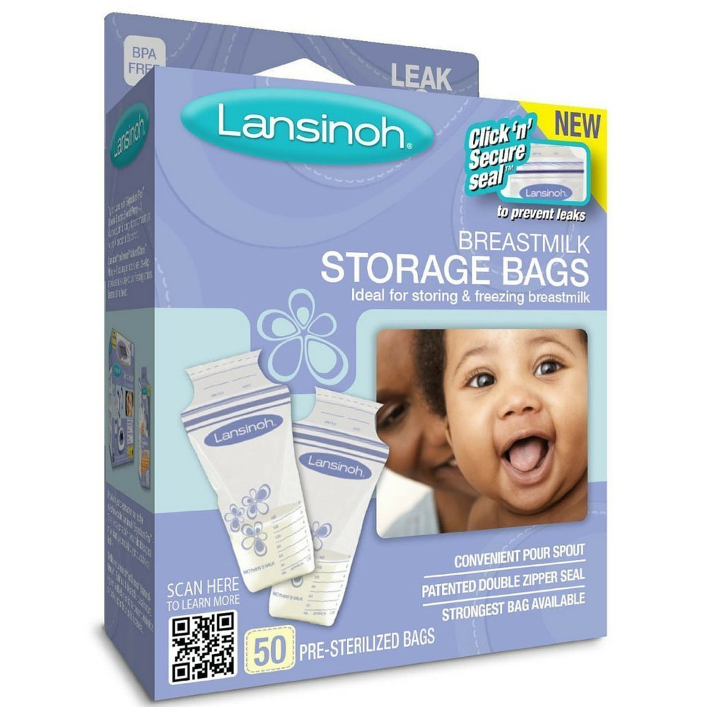 amazoncom lansinoh breast milk storage bags 100count 2 pack baby
