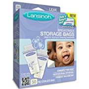 Lansinoh - Breastmilk Storage Bags for Storing and Freezing Breastmilk - 50 Count (Pack of 3)