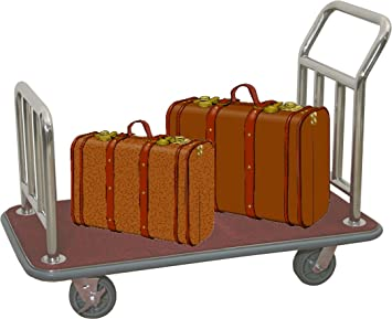 Equipaje carrito transportador Hotel coche maleta coche furgoneta alfombras plata de burdeos: Amazon.es: Hogar