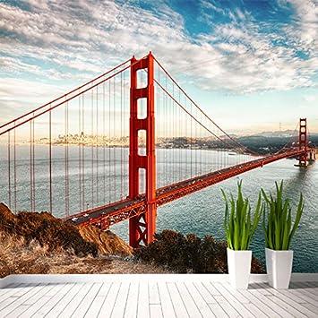 Wallpaper Experten Benutzerdefinierte Wandbild Tapeten Fur 3D Wand Gepragte Landschaft Moderne Architektur Rote Brucke Seascape