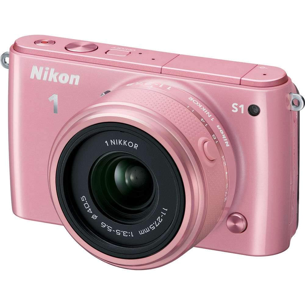 Nikon 1 S1 10.1MP Pink Digital Camera with 11-27.5mm Lens - (Certified Refurbished) by Nikon (Image #3)