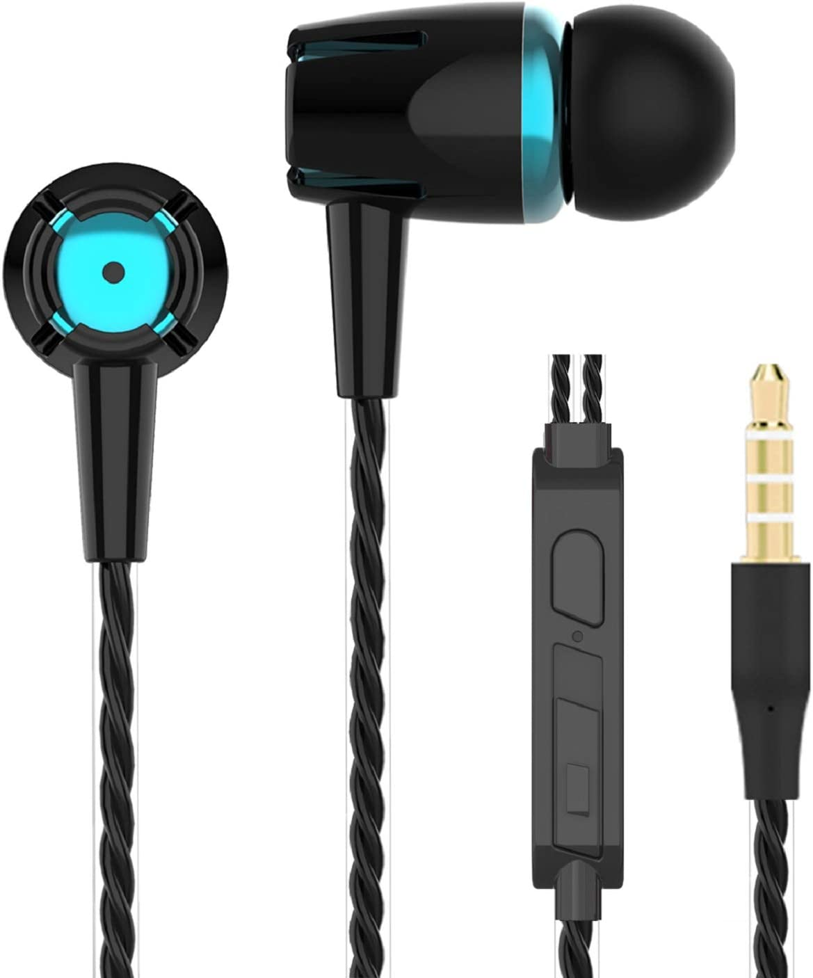 A9 Headphones Earphones Earbuds Earphones, Noise Islating, High Definition, Stereo for Samsung, iPhone,iPad, iPod and Mp3 Players (Mixed Color 4 Pairs): Home Audio & Theater