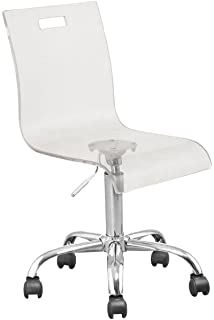 Exceptionnel Retro Acrylic Hydraulic Lift Adjustable Height Swivel Office Desk Chair  Clear (7009)