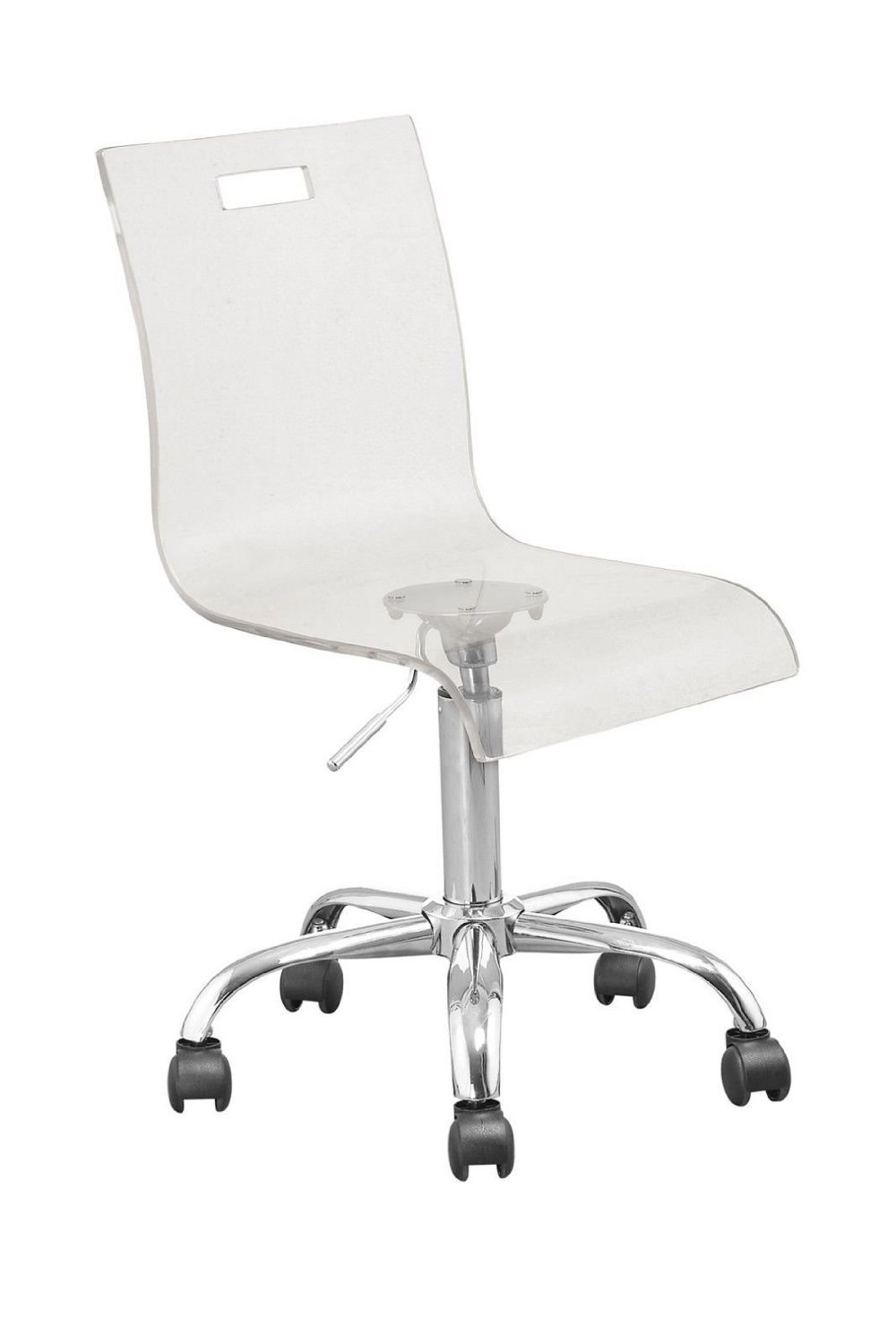 Amazon.com: Retro Acrylic Hydraulic Lift Adjustable Height Swivel Office  Desk Chair Clear (7009): Office Products