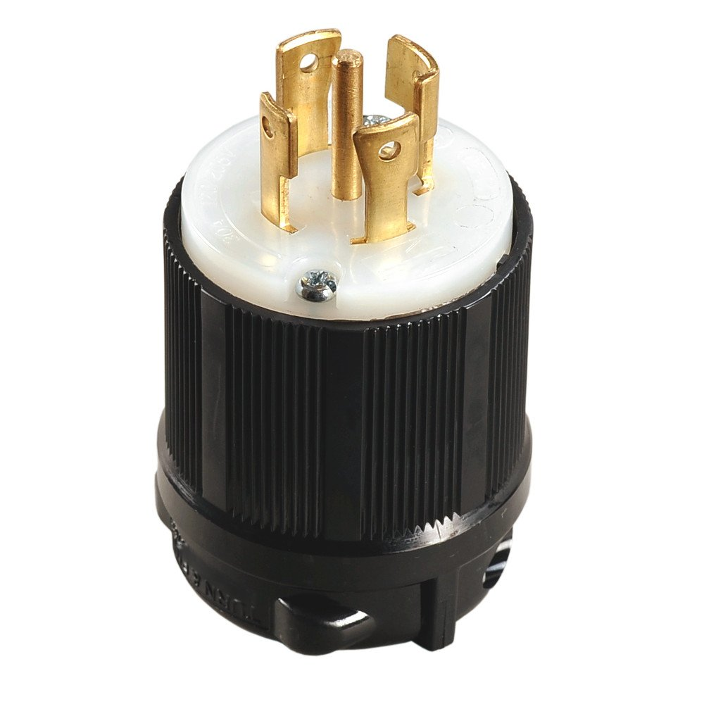 OCSParts L21-30P Grounding Locking Plug, 30A 120/208V AC, 4 Pole 5 Wire, cUL Listed, NEMA L21-30