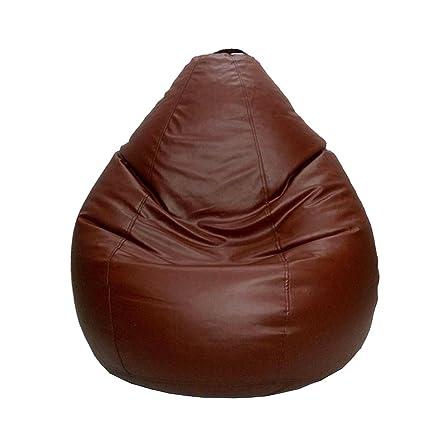 Psygn Exquisite Teardrop Bean Bag With Tan Brown