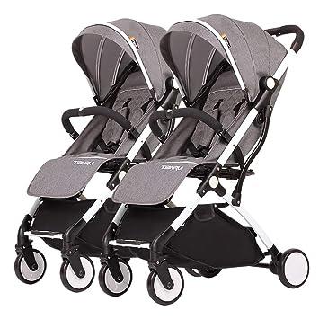 Lll- Carro doble del bebé, cochecito gemelo, niño desmontable, carro ...