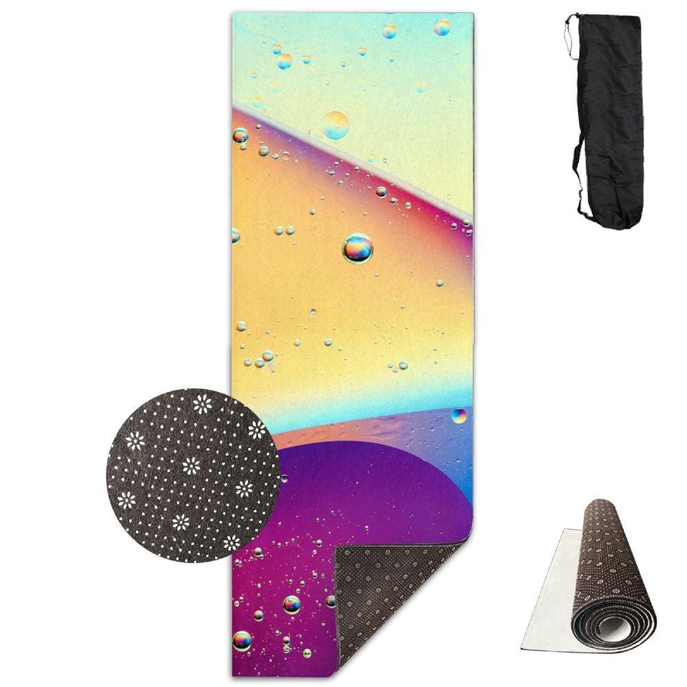 ユニセックスBubbles Colorful Gioneeカスタム印刷ヨガマットwith Carryingバッグ   B07DD7HD85