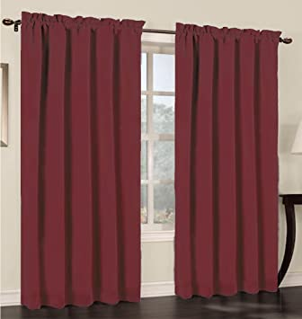 Curtains Ideas 54 inch long curtain panels : Amazon.com: Urbanest 54-inch wide by 63-inch long Blackout Set of ...