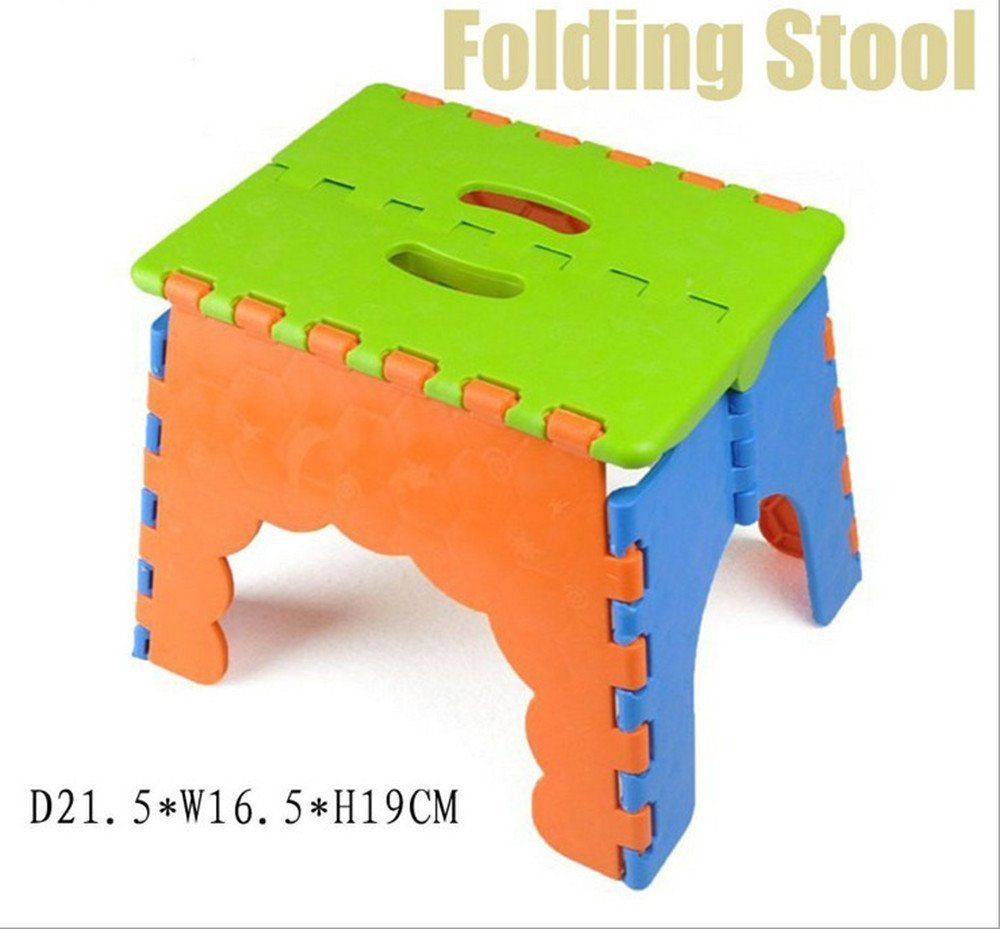 CITY Folding Step Stool,Folding Plastic Stool/Children Step Stool /Fishing Stool,Ideal Use for Kids(Color Csome in Random)