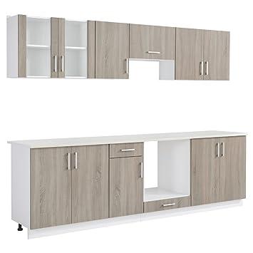 Anself Küchenzeile Küchenblock Einbauküche Ohne Elektrogeräte 8
