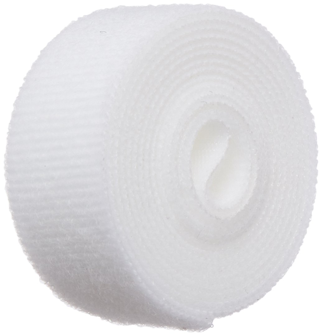 VELCRO 1814-OW-PB/B White Nylon Velcro Onewrap Strap, Hook and Loop, 1' Wide, 5' Length 1 Wide 5' Length CS Hyde Company Inc 1814-OW-PB/B-5