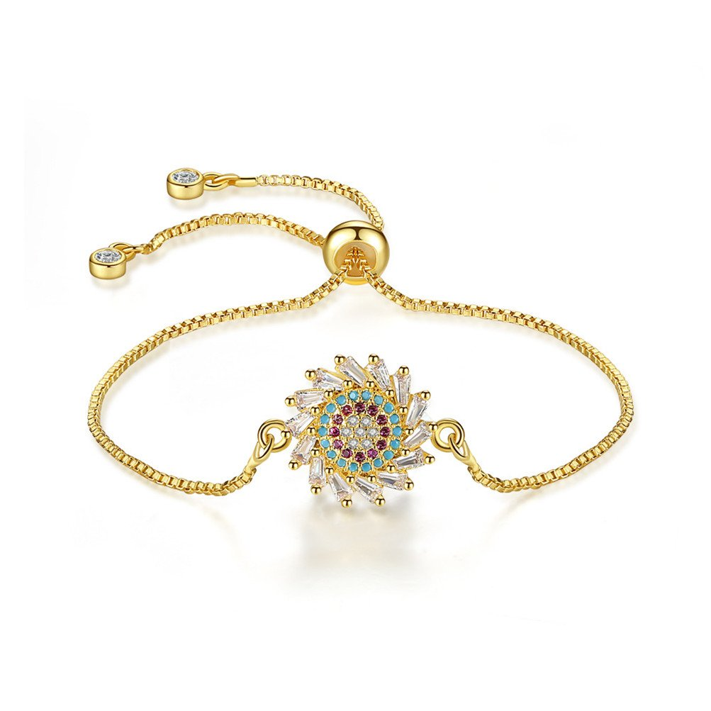 Mrsrui Crystal Jewelry Bridal Rhinestone Bracelet Stretch - Ideal for Wedding, Prom, Party or Pageant (G)