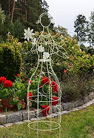 Victorian metal Jardín enrejado figura figura decorativa planta ...
