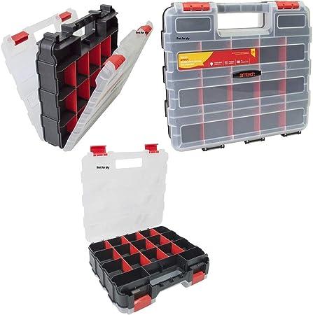 TSL Caja organizadora Profesional de 34 Secciones para Herramientas, Tornillos, Clavos, Caja de Transporte: Amazon.es: Hogar