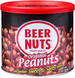 product image for BEER NUTS Original Peanuts - 12oz Resealable Can, Sweet and Salty, Gluten-Free, Kosher, Low Sodium Peanut Snacks