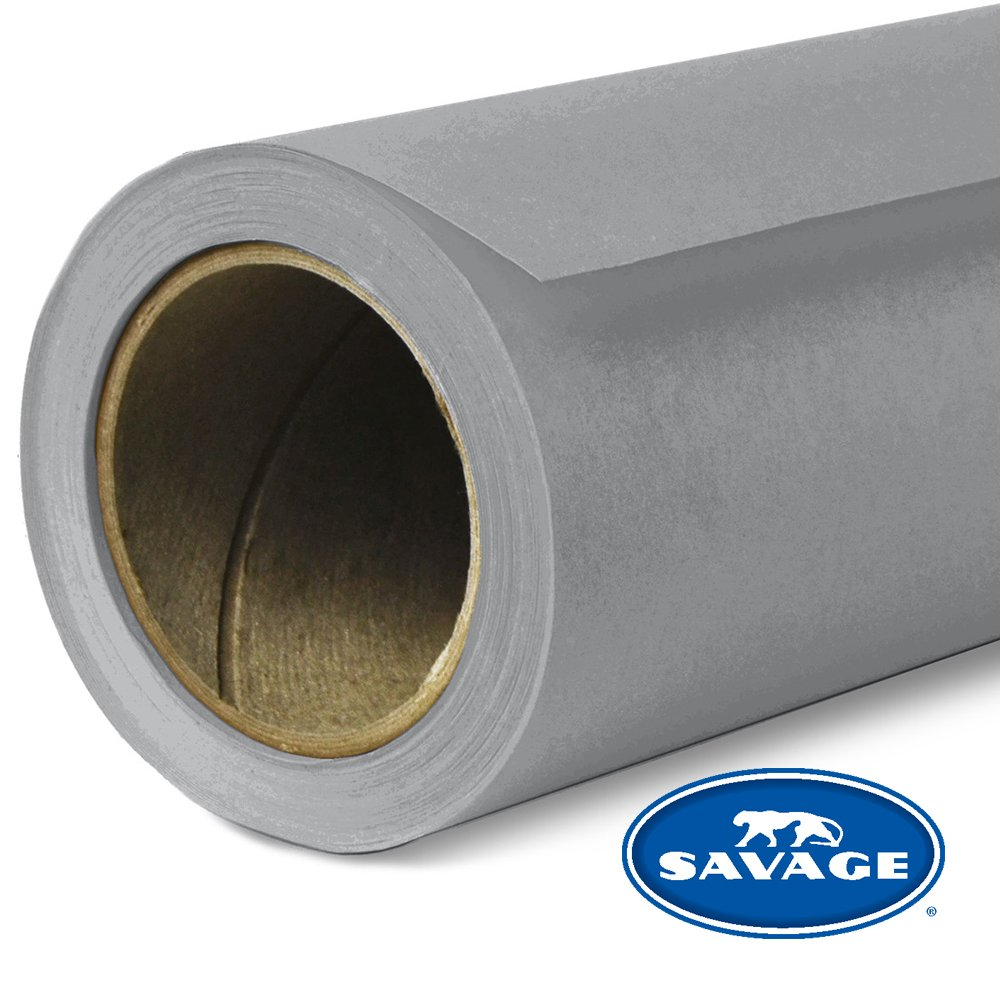 Savage Seamless Background Paper - #56 Fashion Gray (107 in x 36 ft) by Savage