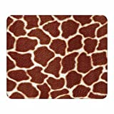 Giraffe Animal Print Mouse Pad - Wildlife Theme Design - Stationery Gift - Computer Office Business School Supplies