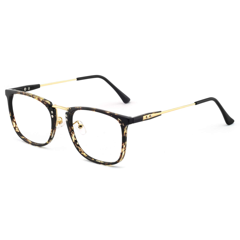 OCCI CHIARI Mens Rectangular//Square Fashion Acetate Eyewear Frame with Clear Lens