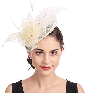 Women's Sinamay Feather Detail Large Fascinator Headband Ascot Royal Race