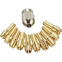 Pandiki 11PCS / Set Brass Portabrocas Collet bits