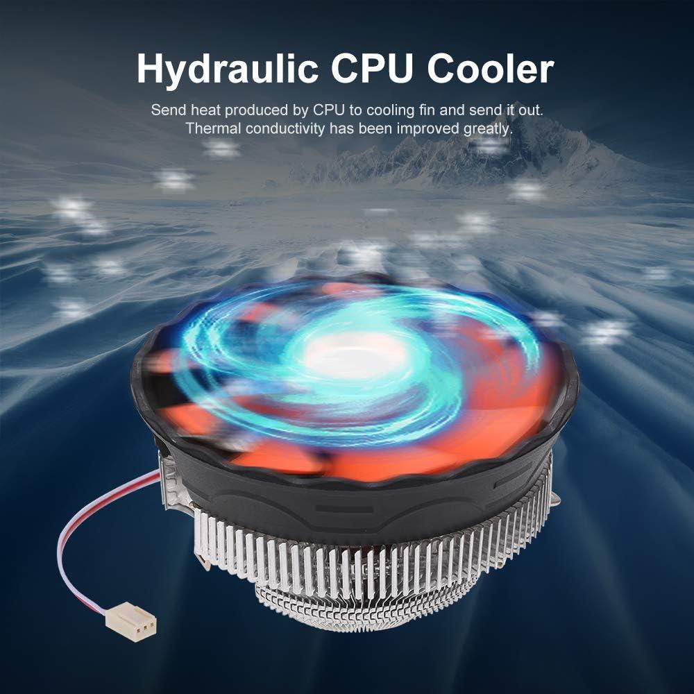 Hydraulic CPU Cooler Heatpipe Fans Quiet Heatsink Radiator for Intel Core AMD Sempron Platform Godyluck