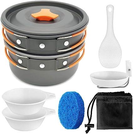 FYHCY Mini Kit de Camping para Cocinar Cubiertos 1-2 Personas ...