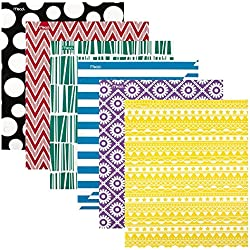 Mead 2 Pocket Folders, Folders with Pockets, Assorted Designs, 6 Pack (73851)