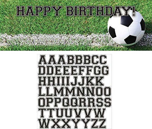 Creative Converting Sports Fanatic Soccer Giant Party Banner with Stickers, (Soccer Birthday Theme)